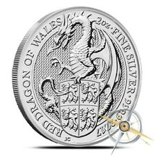 2017 Great Britain 2 oz Silver Queen's Beast (Red Dragon) Coin .9999 IN-STOCK!!