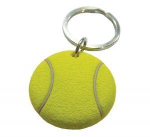 NEW-3D-RUBBER-TENNIS-BALL-SHAPED-KEYCHAIN-1-25-034-DIAMETER-TENNIS-GIFT