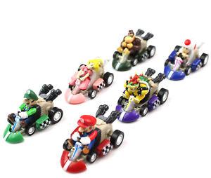 Super-Mario-Bros-Karts-Figurines-Jouets-6-Pieces-Set-Tirer-Arriere-Racer-Cars