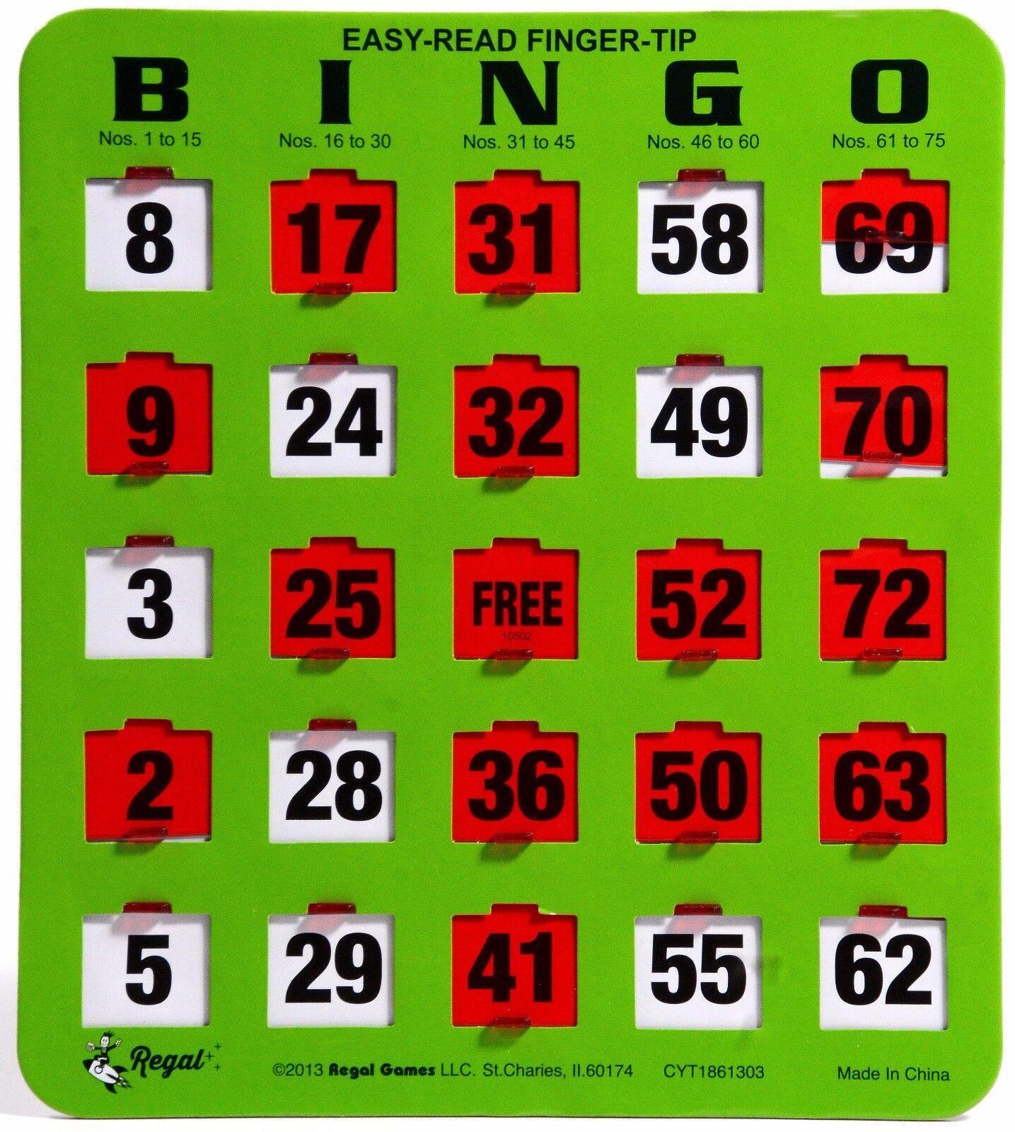 100 JUMBO återanvändningsbara Bingo - kort