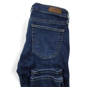 AG-Adriano-Goldschmied-Womens-25-The-Prima-Mid-Rise-Cigarette-Blue-Stretch-Jeans