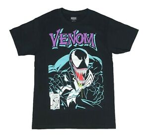 Marvel-Comics-Venom-Portrait-Logo-Spider-Man-Mens-T-Shirt-S-2XL