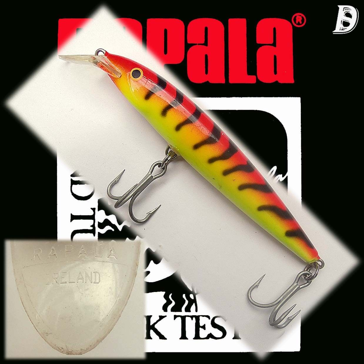 Vintage Rapala Magnum Floating 14cm  Jan Eggers RY used, extremely rare  free delivery and returns