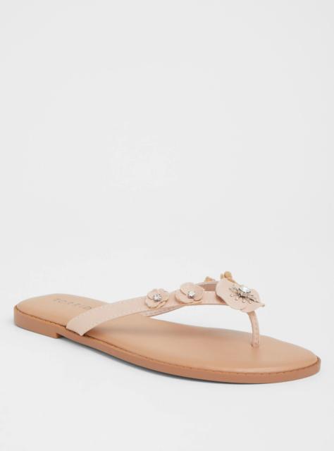 Torrid Pink Floral Flip Flop Sandale Sandale Flop Wide Width Sz  11  82319     e38dee