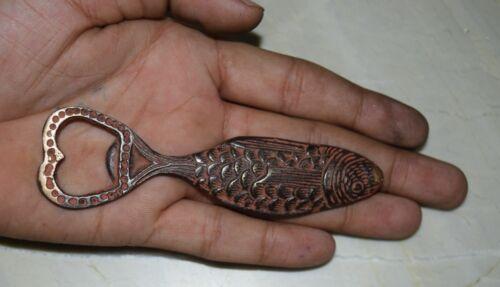 Nautical Fish With Heart Shape Bottle Opener Brass Handmade Restaurant Dec CS103