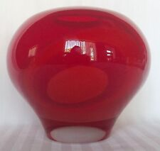 Tibitu Art Glass Signed Large Red Vase