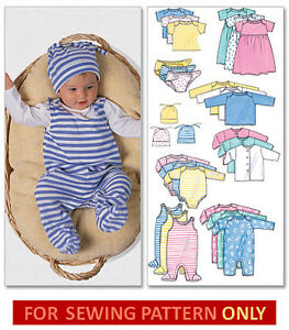SEWING PATTERN! MAKE BABY LAYETTE! DIAPER COVER~ROMPER~TOP ...