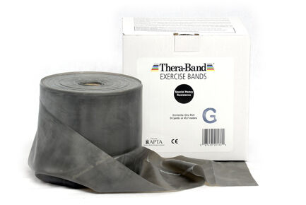 Thera-Band schwarz 45,5 Meter-Rolle Meter-Rolle 45,5 Theraband, NEU a3923f