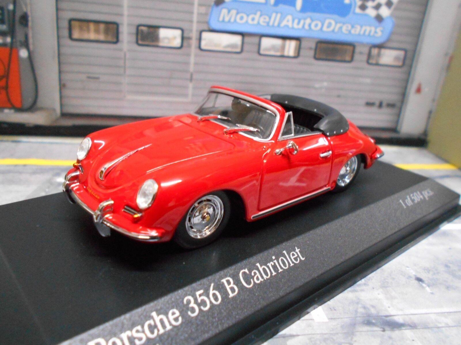 Porsche 356 B 356b Cabriolet Converdeible rojo rojo rojo rojo 1960 Minichamps 1 43 314a10