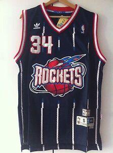 save off 8251d 13bd9 Details about Canotta nba basket maglia Hakeem Olajuwon jersey Houston  Rockets S/M/L/XL/XXL