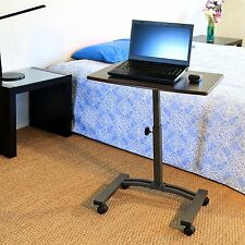 Portable Laptop Computer Table Stand Writing Desk Tilted Top Work Station  Cart