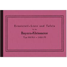 BMW Bayern-Kleinmotor M2 B15 R32 Helios Bayernmotor Ersatzteilliste M2B15 R 32