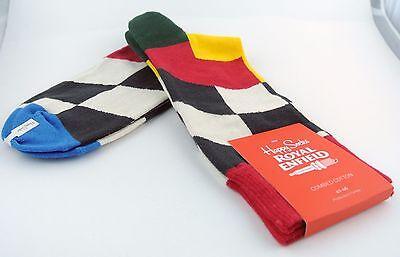 Flag Happy Socks Mens Limited Ed Royal Enfield Crew Socks 10-13