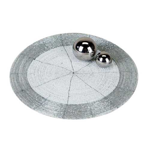 30cm White Silver Round craftsmen Wa Table Mat Pearls D Placemat Coasters