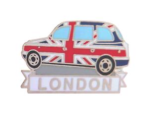 London Union Jack Taxi Cab Pin Badge