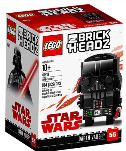41619 DARTH VADER brick headz NEW lego legos set brickheadz STAR WARS kit #55