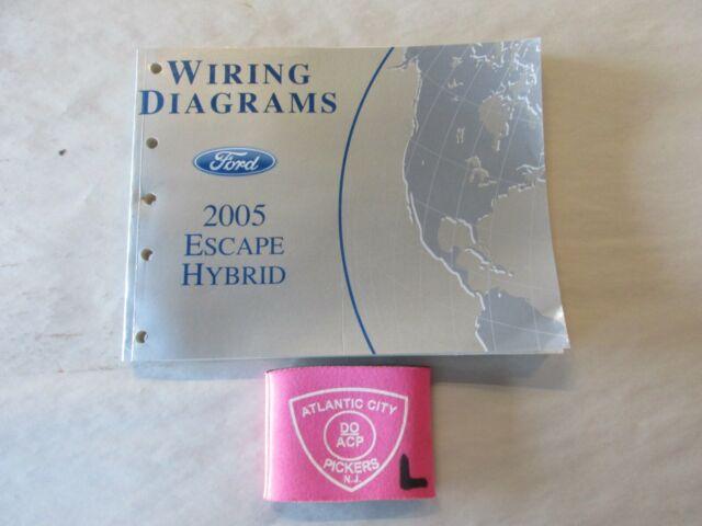 2005 Ford Escape Hybrid Wiring Diagram Service Manual