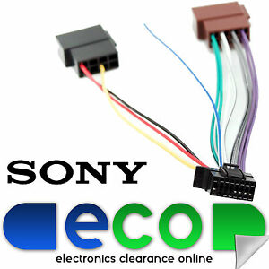sony new style 16 pin car stereo wiring harness iso sony car stereo rh ebay co uk
