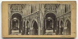 Cattedrale Da Siena Italia Foto N° PL40L7 Stereo Vintage Albumina