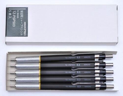 5 VINTAGE KOKUYO PRO TZ-PSP503 0.3MM MECHANICAL PENCILS IN BOX