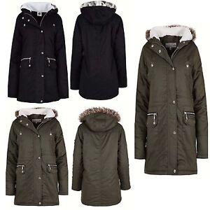 New-Womens-Ladies-Luxuary-Fleece-Parka-Jacket-Coat-Faux-Fur-Hooded-Size-S-TO-XL