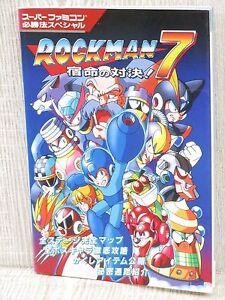 rockman 7 megaman shukumei no taiketsu guide sfc book ko68 ebay