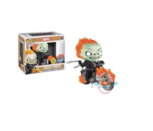 Pop  Rides Marvel Ghost Rider PX Glows in the the the Dark Figure Funko 886118