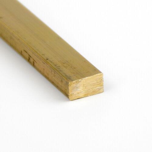"72.0/"" 0.25/"" x 2/"" Brass Rectangle Bar 360-H02 Extruded"