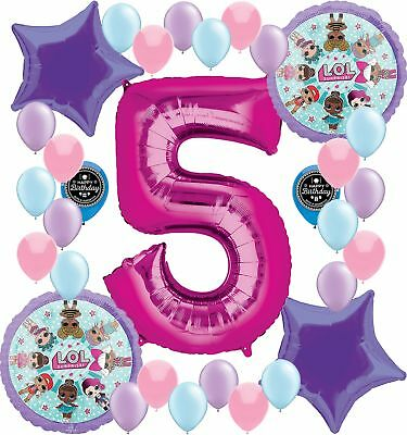 5TH BIRT... Party Supplies Birthday LOL Balloons Bouquet Decorations Bundle For