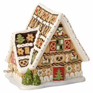 VILLEROY-amp-BOCH-Christmas-Toys-Lebkuchenhaus-mit-Spieluhr-Porzellan-Weihnachten