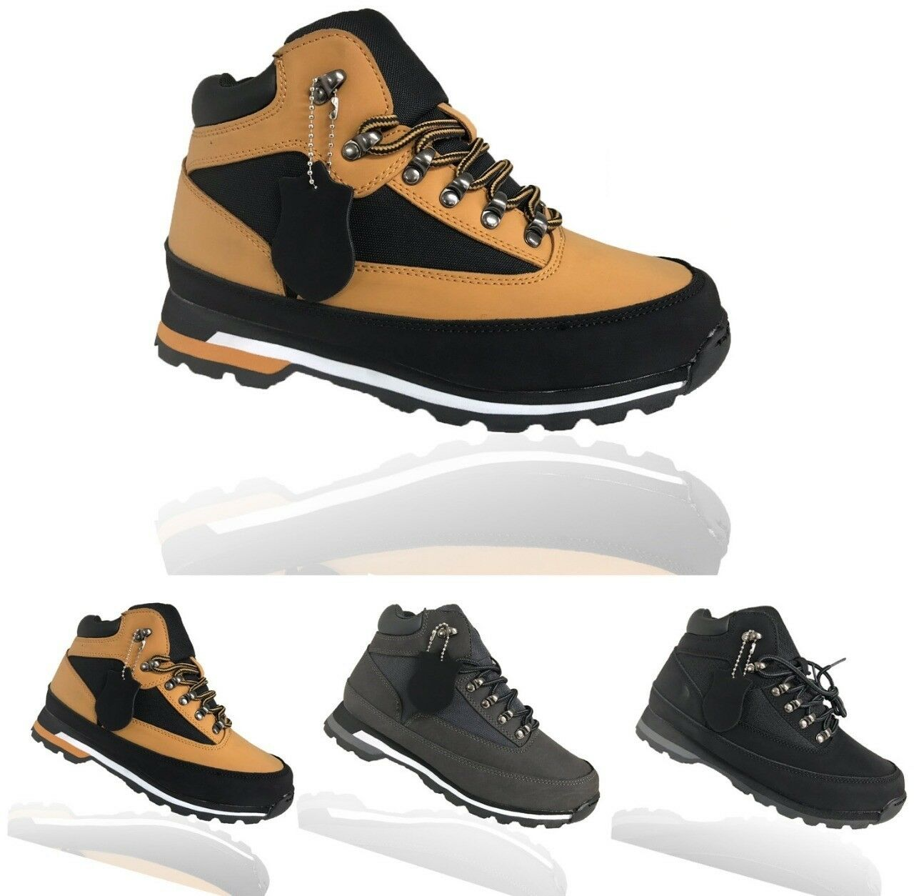 MENS GENTS CASUAL WALKING HIKING BOY SCHOOL OFFICE BOOTS TRAINER WORK SHOES SIZE