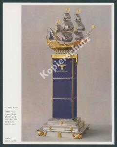 Farbfoto-Richard-Klein-Ehrenpreis-Schiff-Kieler-Woche-Segelregatta-Seefahrt-1935
