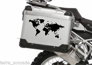 Artistic world map bike pannier bmw tureg r12000gs sticker jdm ktm image is loading artistic world map bike pannier bmw tureg r12000gs gumiabroncs Gallery