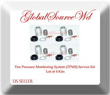 4 Kits Tpms Sensor Service Kit Fitsacura Alfa Romeo Bmw Fiat Honda Hyundai Kia