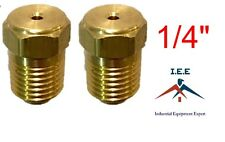 """1/4"""" Air Compressor Auxiliary Unloader Assist Needle Valve Solid Brass USA Made"""