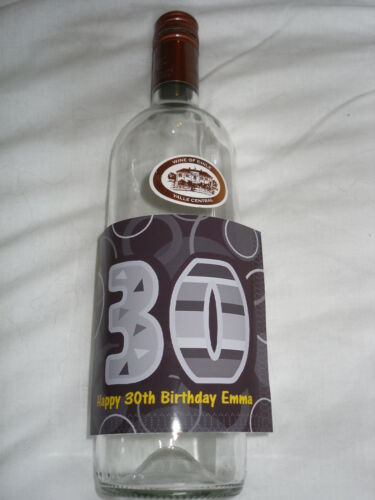 labels 18th 21st 30th 40th sticker backing Personalised Birthday Bottle Label