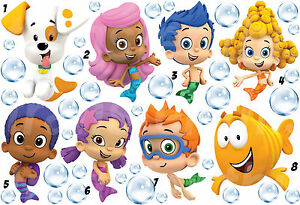 bubble guppies sticker wall decal or iron on transfer t shirt