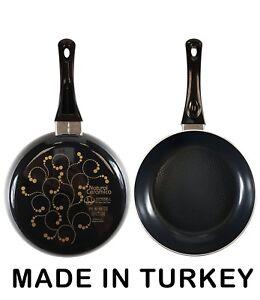 10 Inch Non Stick Ceramic Fry Pan Black Blue Orange Made