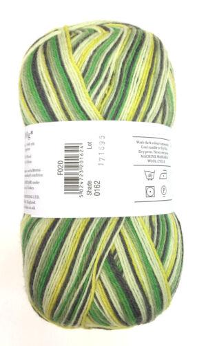 SIRDAR Heart /& Sole Wool Rich 4 Ply Sock Yarn Color 162