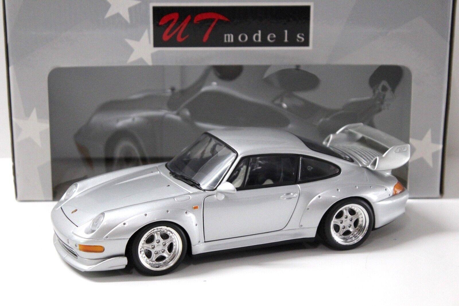 1:18 UT MODELS PORSCHE 911 993 gt2 Street Argent  en boîte chez Premium-modelcars | Conception Habile