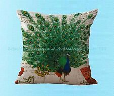vintage peacock cushion cover pillowcase decorative throw pillow covers
