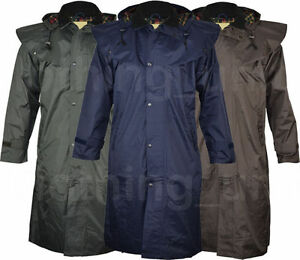"JQ9 Mens ""Riding Coat"" Long Full Length Waterproof Rain ..."