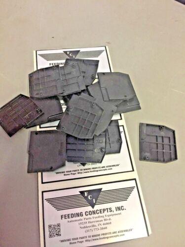 Lot of 10 Entrelec FEM6 Terminal End Section Grey black
