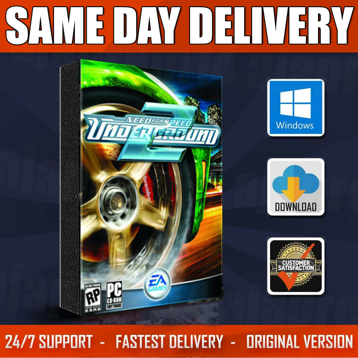 Need For Speed Underground 2 Pc 2004 For Sale Online Ebay