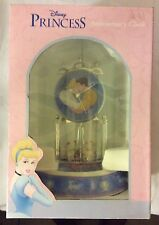 RARE New In Box DISNEY PRINCESS CINDERELLA & PRINCE ANNIVERSARY CLOCK