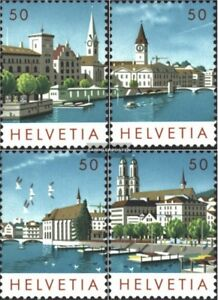 Schweiz-1276-1279-kompl-Ausgabe-postfrisch-1984-NABA-Zuerich