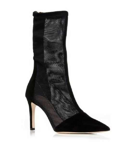 STUNNING SOLD SOLD SOLD OUT NEW  850 CUSHNIE ET OCHS 'ENZO' noir MESH SUEDE bottes 9c3a66