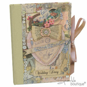 VINTAGE-WEDDING-DIARY-Planner-Planning-Book-Journal-Organiser-Engagement-Gift