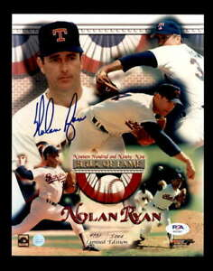 Nolan-Ryan-PSA-DNA-Coa-Hand-Signed-8x10-1999-HOF-Photo-Autograph