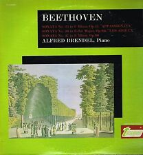 """LP 12"""" 30cms: Beethoven: sonata 23.26.27. Alfred Brendel. turnabout . D6"""